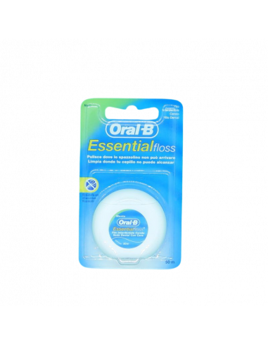 Seda Dental con Cera marca Oral-B Essential Floss Flour - Frente